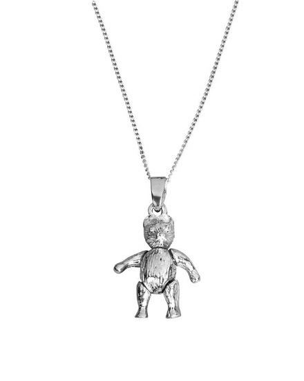 Sterling Silver 'Movable Teddy' Pendant with 40cm chain